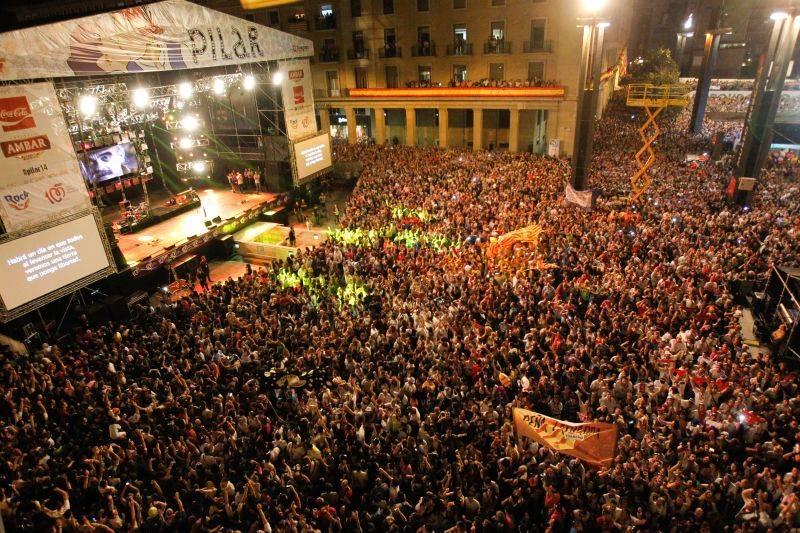 Reserva tu hotel barato en Zaragoza para disfrutar de una gran variedad de conciertos en las Fiestas del Pilar